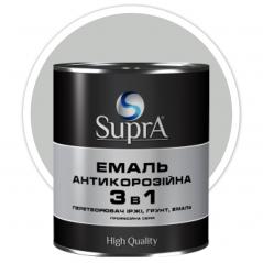 Эмаль антикорозийная 3в1 Supra серебристая 0,8 кг