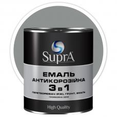 Эмаль антикорозийная 3в1 Supra серая 0,8 кг