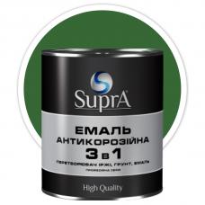 Эмаль антикорозийная 3в1 Supra зеленая 2,5 кг