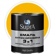 Эмаль антикорозийная 3в1 Supra желтая 0,8 кг