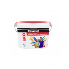 """Водно-дисперсионная краска """"Ceresit"""" интерьерная акриловая Eko (4,2 кг)"""
