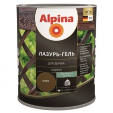 Лазурь для дерева Alpina lasur-gel махагон 2,5л