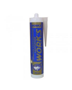"""Герметик силиконовый """"WORKS"""" санитарный белый (280 мл)"""