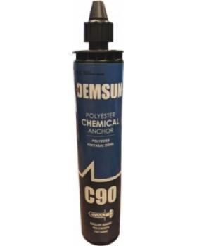 Клей химический анкер DEMSUN C90 серый 300 мл