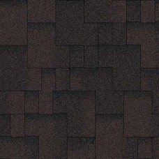 """Черепица битумная """"Акваизол"""" акцент коричневая ЭКО (3 м²/уп.)"""