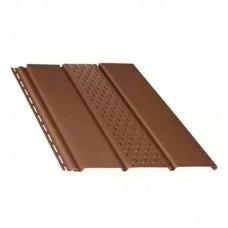 """Панель """"Софит"""" с центральной перфорацией темно-коричневая (3 м)"""