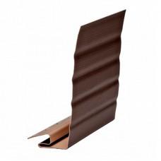 """Профиль для сайдинга """"фаска"""" коричневый (3,66 м)"""