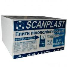Пенопласт ПСБ-С-25 10 см Fasad Scanplast (1 х 1 м) (10,2 кг/м3)