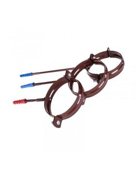 Держатель трубы стальной коричневый (90 х 160 мм)