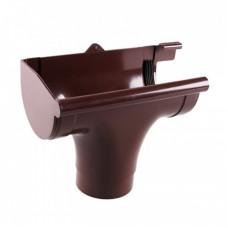 """Ливнеприёмник """"Profil"""" левый коричневый (130 мм)"""