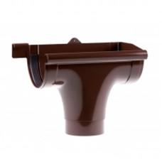 """Ливнеприёмник """"Profil"""" проходной коричневый (90 мм)"""