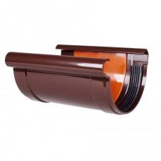 """Соединитель желоба коричневый """"Profil"""" 90 мм"""