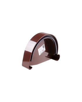 "Заглушка желоба левая коричневая ""Profil"" (90 мм)"
