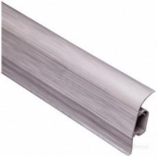 Плинтус ТИС с резинкой Серебро (2,5м)