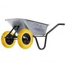Тачка 2-колёсная строительная 100 л 200 кг оцинк D-12/1006oz100 (колесо полиуретан)