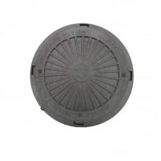 Люк канализационный полимерный садовый (черный) 3 т