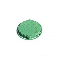 Люк канализационный полимерный садовый (зеленый) 1 т