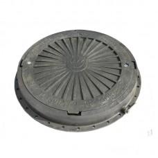 Люк канализационный полимерный (черный) 3 т
