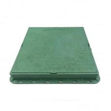 Люк канализационный полимерпесчаный квадратный (зеленый) 1,5 т