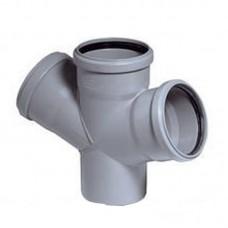 """Крестовина для канализации """"Wavin"""" (110 х 110 мм) 67 гр"""