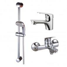 """Набор смесителей для ванной 3 в 1 """"Q-tap"""" QT SET 35-111 CRM"""
