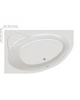 "Акриловая ванна ""RAVAK"" Asymmetric II (170 х 110 см), C931000000"