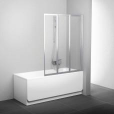Шторки для ванны RAVAK VS 3 115 белые (Transparent), 795S0100Z1