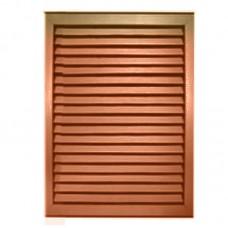 Решётка радиаторная пласт. коричневая 300 х 600 мм