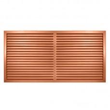 Решётка радиаторная пласт. коричневая 900 х 600 мм