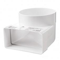 """Колено пластиковое для плоского канала """"ВЕНТС"""" (55 х 110 х 100 мм)"""