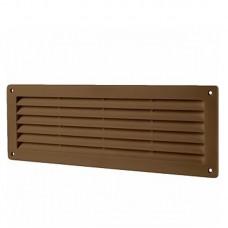 "Решётка вентиляционная ""Домовент"" ДВ 350 368 х 130 мм (коричневая)"