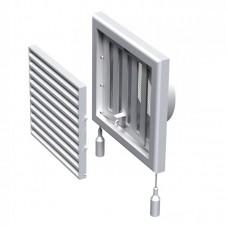 "Решётка вентиляционная ""Vents"" МВ 120 ВРс 187 х 187 мм (регулятор, защитная сетка)"