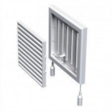 """Решётка вентиляционная """"Vents"""" МВ 120Рс 187 х 187 мм (регулятор, защитная сетка)"""