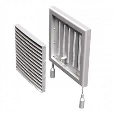 """Решётка вентиляционная """"Vents"""" МВ 121 Рс 187 х 187 мм (регулятор, защитная сетка)"""