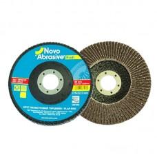 Круг лепестковый торцевой NOVO ABRASIVE Р60 (125 х 22,2 мм)