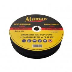 Круг отрезной для металла ATAMAN 41 14А 230 2,0х22
