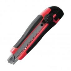 """Нож прорезной с отломным лезвием """"INTERTOOL"""" HT-0503 (18 мм) обрезиненная рукоятка"""