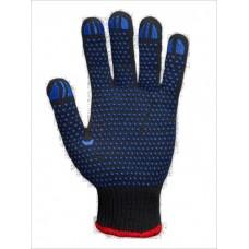 """Перчатки рабочие """"Долони"""" черные с синей точкой"""