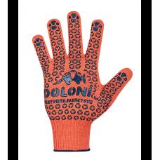 """Перчатки рабочие """"Долони"""" с точкой ПВХ оранжевые"""