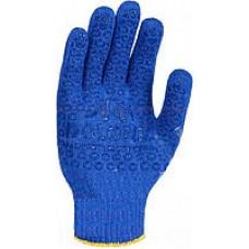 """Перчатка """"ДКГ"""" серия - Универсал, трикотажные, рабочие, синие с желтым ПВХ класс 10, р.10 """"Doloni"""""""