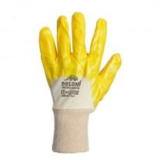 Перчатки рабочие (стекольщика) желтый нитрил