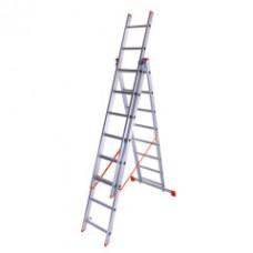 Лестница 3-х секционная Laddermaster Sirius A3A8 2*8 ступ.