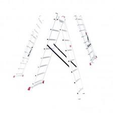 Лестница раскладная алюминиевая 3-х секционная (3х10 ступ.) LT-0310