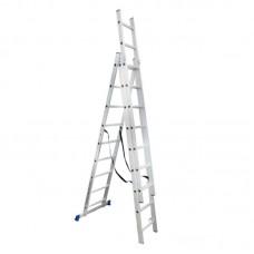 Лестница универсальная WERK 3-х секционная (3 х 9 ступ.)