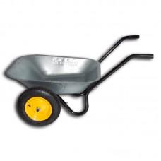 "Тачка садовая ""Budmonster"" оцинкованная двухколесная 70 л (130 кг)"