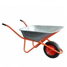 Тачка 1-колёсная (380 мм) 85 л (160 кг) оцинкованная (строительная)