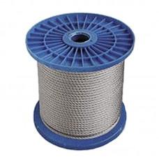 Трос стальной в оплетке ПВХ DIN 3055 (6х7) 3 мм