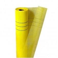 Сетка штукатурная щелочеустойчивая 5х5 мм 160 г/м² (1х50 м) желтая