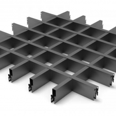 Плитка подвесного потолка Грильято 40x100x100 (верхний черный)