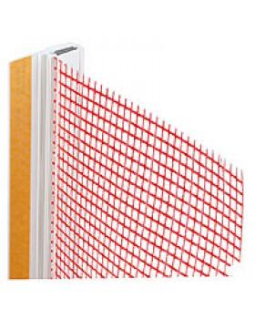 Профиль оконного примыкания с сеткой 6мм/3мм с уплотнит.2,4м